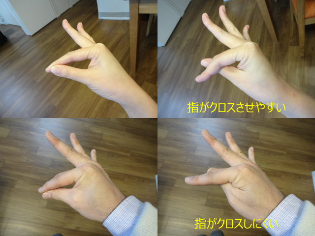 催眠術の指の形