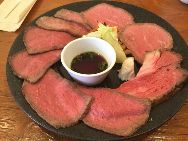 裏参道牛肉ランチ:ローストビーフ