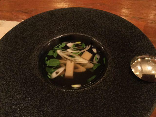 裏参道牛肉店:スープ