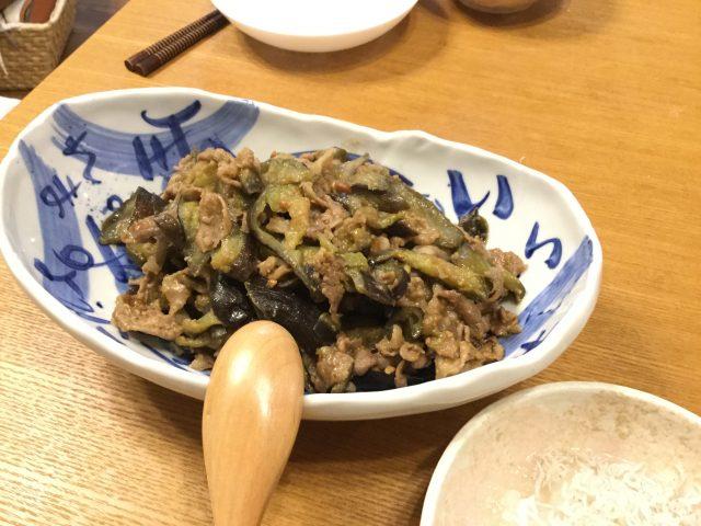 茄子と豚肉の中華炒め