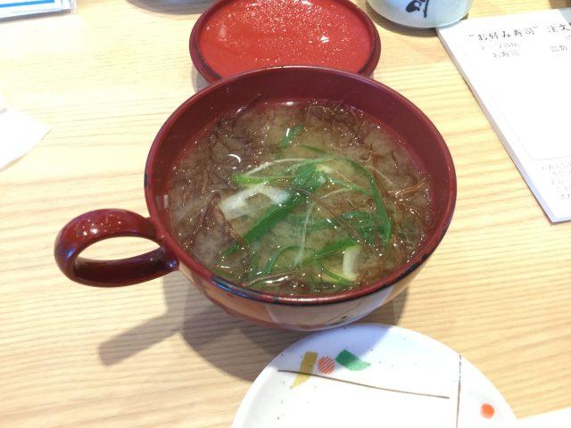 ふのりの味噌汁